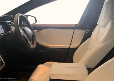 tesla model y grey with black interior